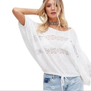 Free People I'm your baby Blouse Top NWT